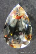 Oligoclase 'Confetti' Sunstone with green tint, faceted, Tanzania.  1.12 carats.